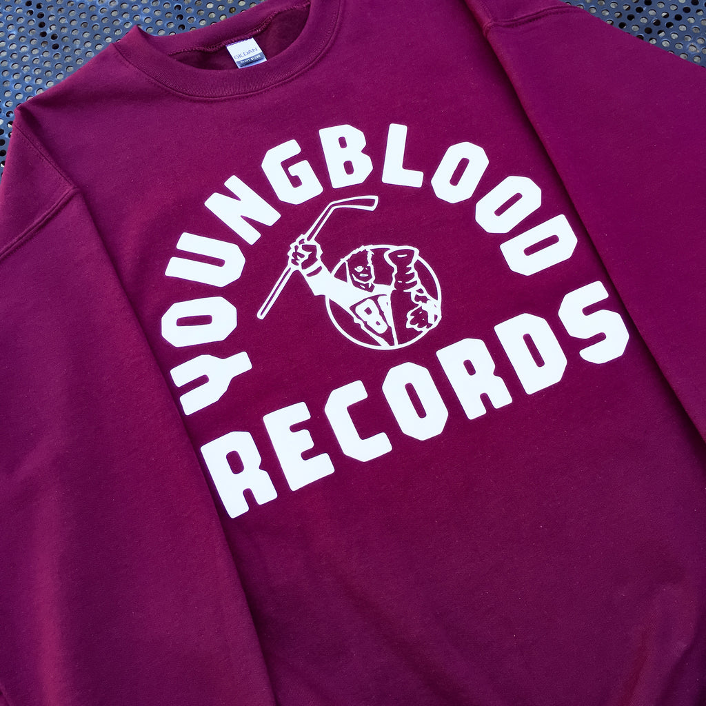 Youngblood Records Maroon Crewneck