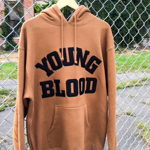 Youngblood Felt Lettering Saddle Creek Hoodie w/ Black Lettering