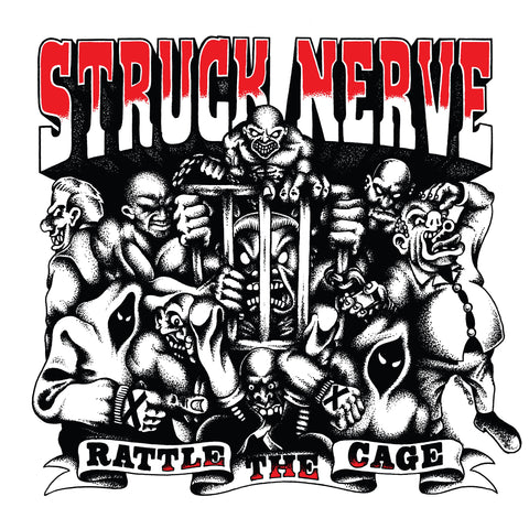 "PRE-ORDER Struck Nerve ""Rattle the Cage"" LP CLEAR Vinyl Ltd to 200"