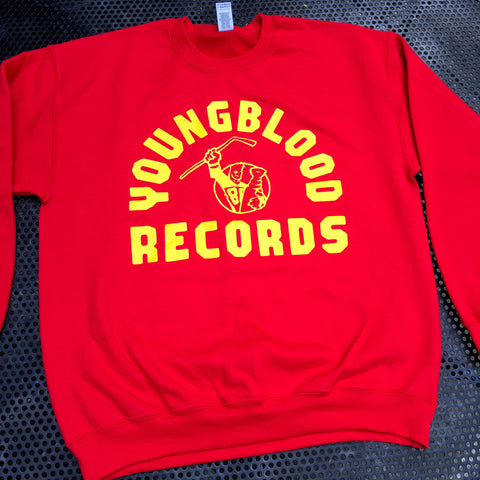 Youngblood Records Red w/ Gold Print Crewneck (found one in Large!)