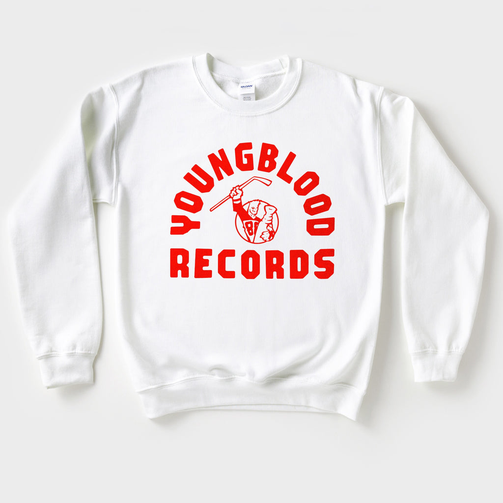 Youngblood White w/ Red Ink Crewneck (Found 2 of these!)