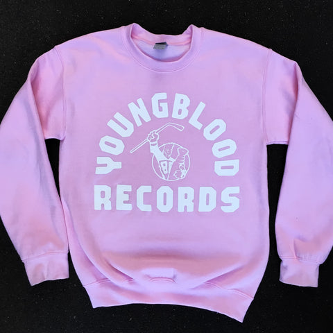 Youngblood Light Pink Crewneck (one left in Large)