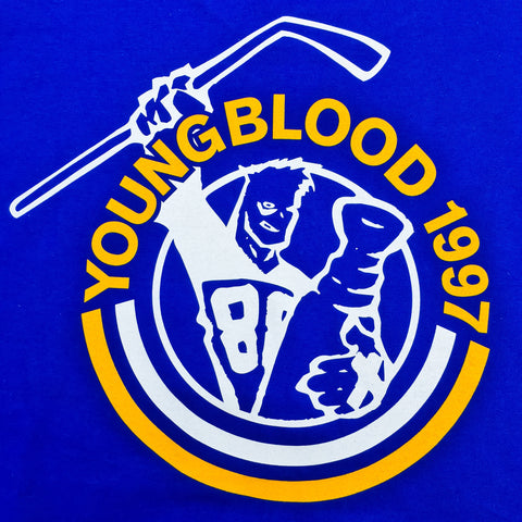 Youngblood Records 1997 Shirt Sport Royal on Gildan Hammer