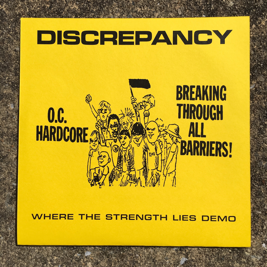 "Vault Copy: Discrepancy ""Where The Strength Lies Demo"" 7"" Limited Cover"