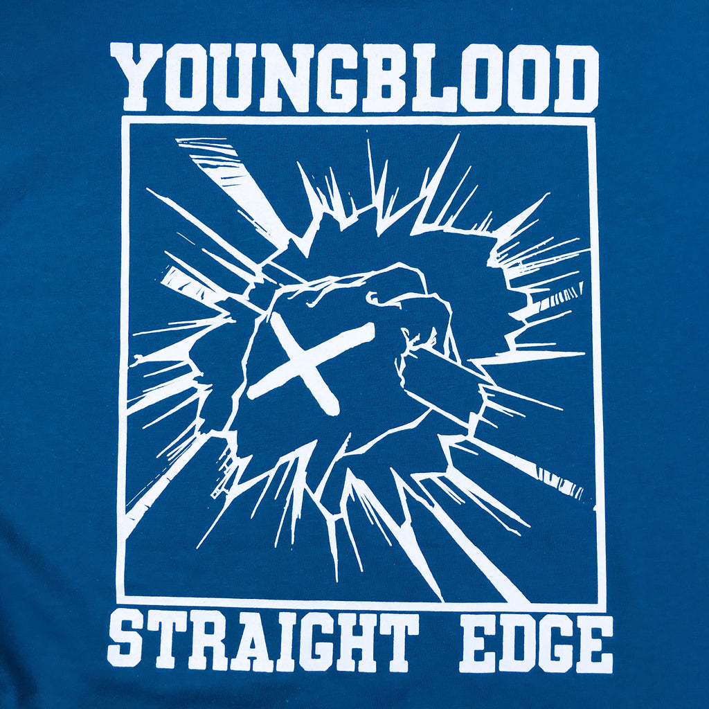 Youngblood Straight Edge Shirt Galapagos Blue on Gildan Hammer