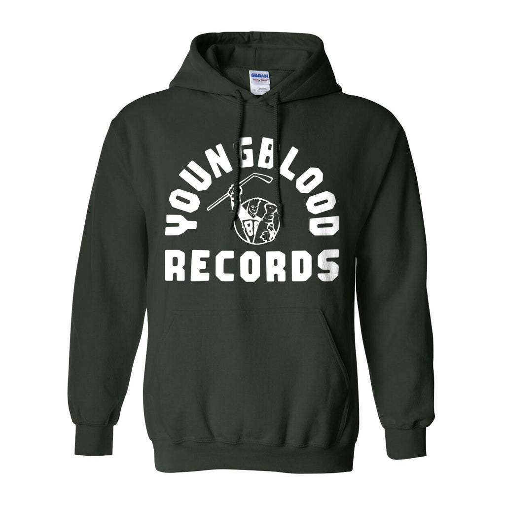 Youngblood Records Forest Green Hoodie