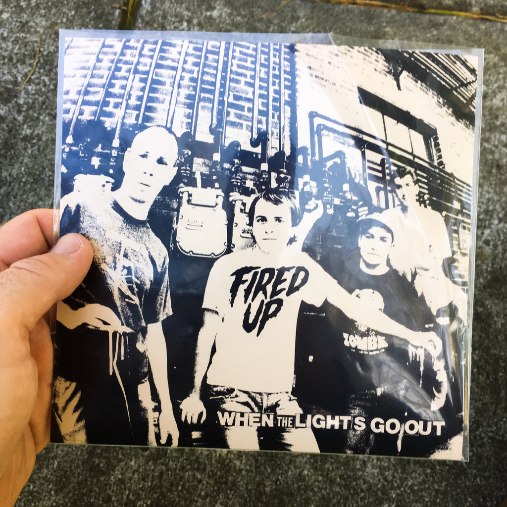 "Vault Copy: Fired Up ""When the Lights Go Out"" 7"" Purple Vinyl Final Press"
