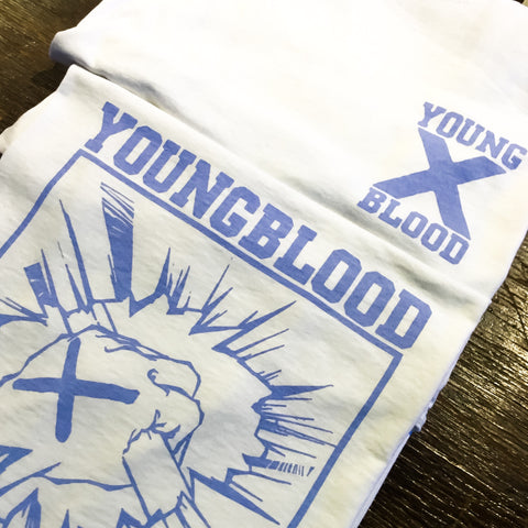 Youngblood Straight Edge White T-Shirt with Thistle Down Ink