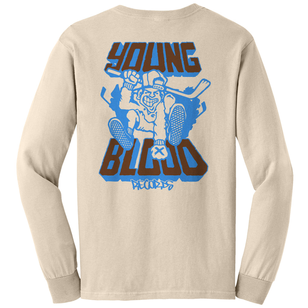 Youngblood Walrave Design Longsleeve Natural on Gildan Ultra Cotton