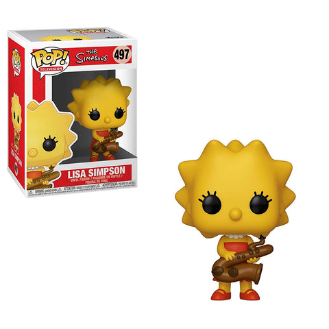 The Simpsons Lisa Simpson Saxophone Pop Vinyl Figure