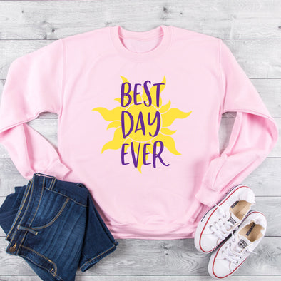 Tangled, Rapunzel,  Sweatshirt, Best Day Ever, Tangled Sun,  Princess, ,  Gift, ,  Vacation