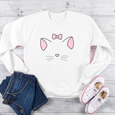 Marie Aristocats, Aristocats,  Sweatshirt,  shirt, Cat Sweater, Marie, The Aristocats,  Gift,  Vacation,  Trip