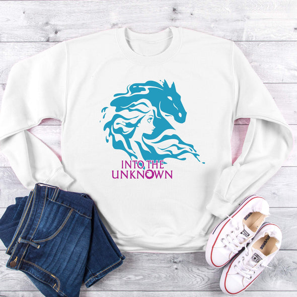 Into the Unknown, Elsa, Frozen 2,  Sweatshirt,  Princess,  Gifts, Womens Sweatshirt,  Pullover,  Jumper