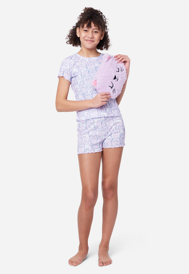 Justice Nwt Girls Shimmer  Dot Snuggly Romper Sleepwear Pajama Size 8