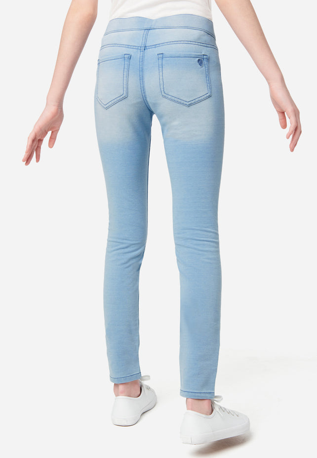 """Details about  /Justice Jeans /""""SOFT /& STRETCHY/"""" Mid Rise Jeggings with Rhinestones /& Studs"""