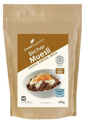 Ceres Organics Bircher Muesli with Cacao, Almond and Maca