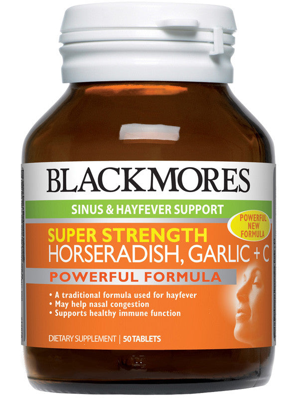 Blackmores Super Strength Horseradish, Garlic + C