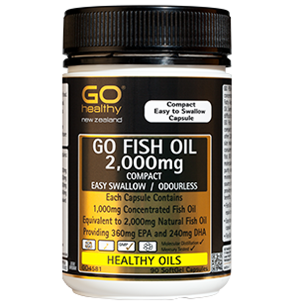 GO Healthy Fish Oil 2000mg Compact