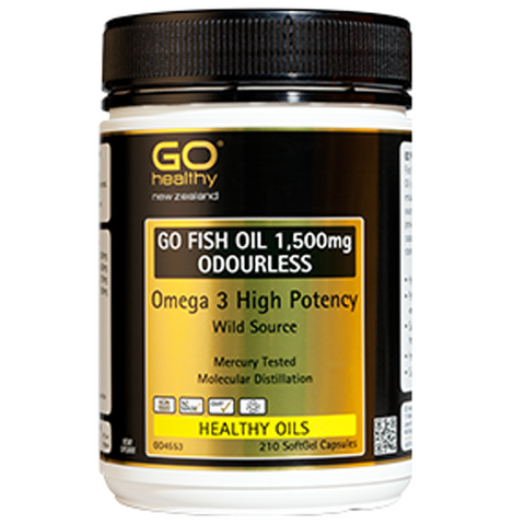 GO Healthy Fish Oil 1500mg Odourless