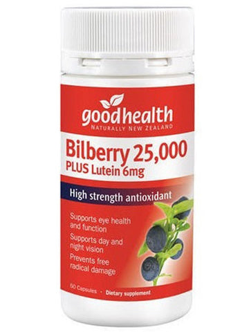 Good Health Bilberry 25000mg Plus Lutein