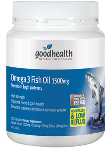 Good Health Omega 3 Fish Oil 1500mg
