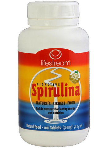 Lifestream Bioactive Spirulina 500mg Tablets