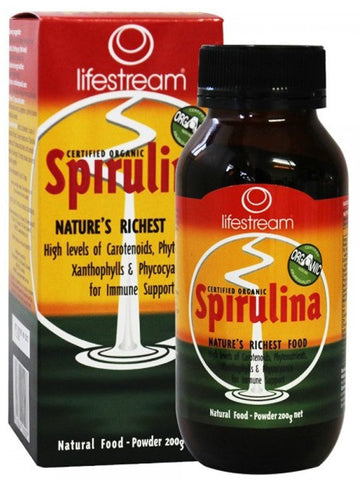 Lifestream Spirulina Powder 200g - Certified Organic