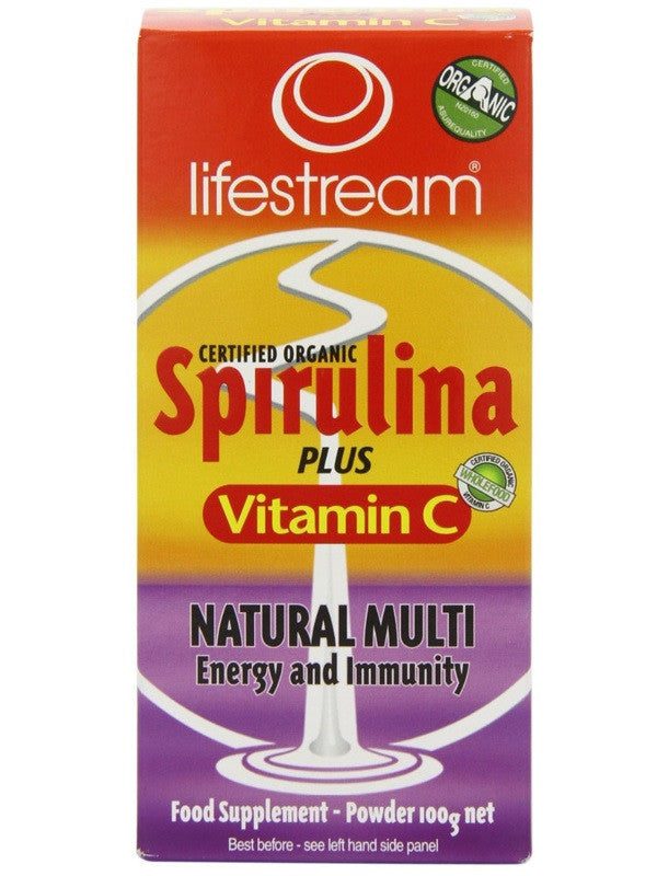 Lifestream Spirulina + Vitamin C Powder - Certified Organic