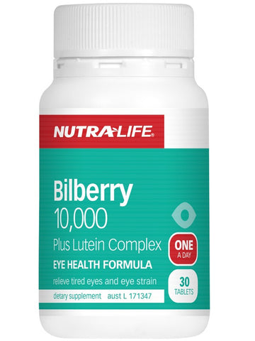 Nutralife Bilberry 10,000 and Luteun Comp