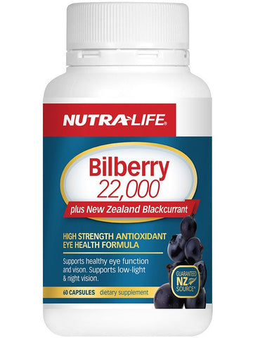 Nutralife Bilberry 22000 Plus NZ Blackcurrent