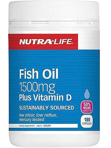 Nutralife Fish Oil 1500mg + Vitamin D TRIPLE PACK