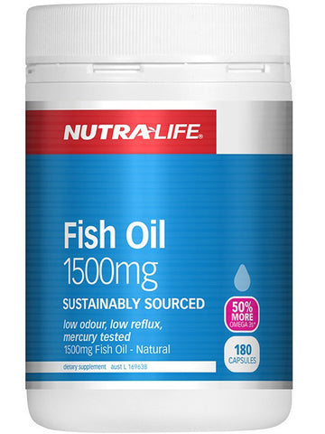 Nutralife Fish Oil 1500mg + Vitamin D