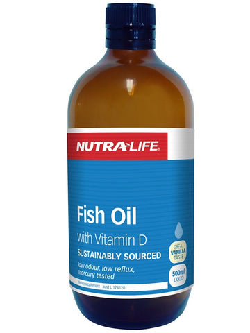 Nutralife Fish Oil with Vitamin D Liquid