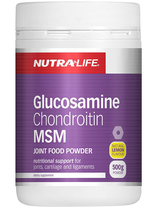 Nutralife Glucosamine Chondrotin MSM Joint Food Lemon