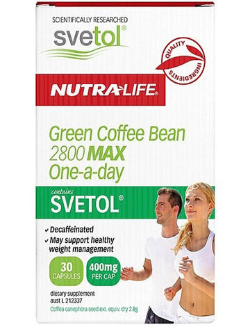 Nutralife Green Coffee Bean 2800mg Max One-a-Day