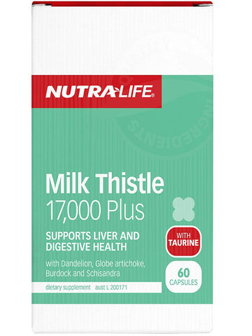 Nutralife Milk Thistle 17000 Plus