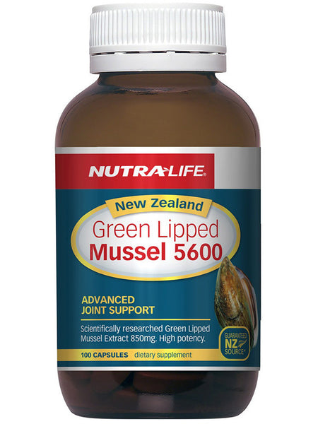 Nutralife NZ Green Lipped Mussel 5600 100 Capsules – Nutricare