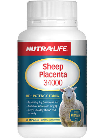 Nutralife Sheep Placenta 34000 with Vitamin D3