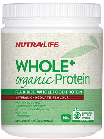 Nutralife Whole + Organic Protein Pea and Rice Chocolate