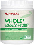 Nutralife Whole + Organic Protein Pea and Rice†Vanilla