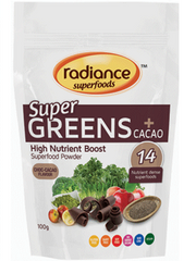 Radiance Super Foods Greens + Cacao 100g