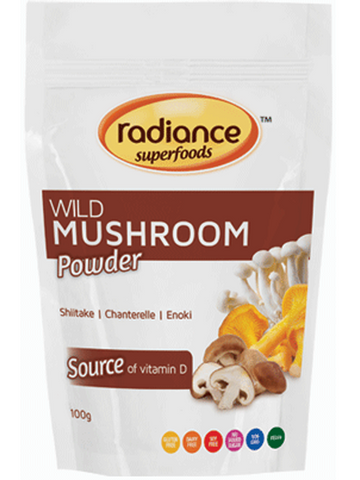 Radiance Super Foods Wild Mushroom Powder 100g