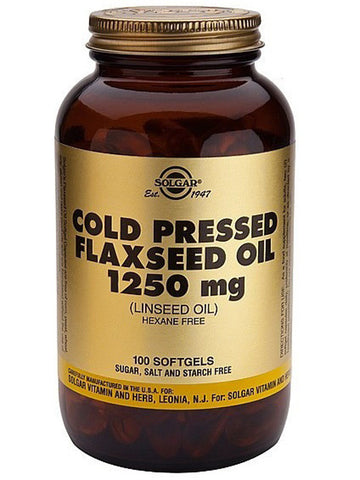 Solgar Cold Pressed Flaxseed Oil 1250mg