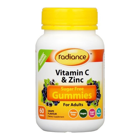 Sugar Free Vitamin C & Zinc Gummies For Adults