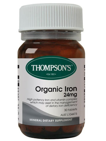 Thompson's Organic Iron 24mg