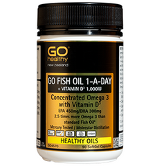 GO Healthy Fish Oil 1-a-day + Vitamin D 1000IU