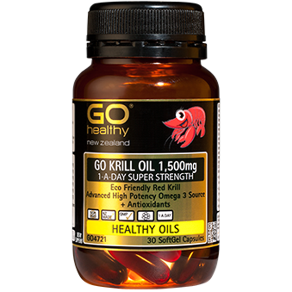 GO Healthy Krill Oil 1500mg Super Strength