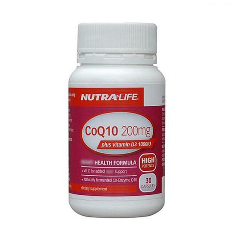 Nutralife Co Q 200mg + Vitamin D