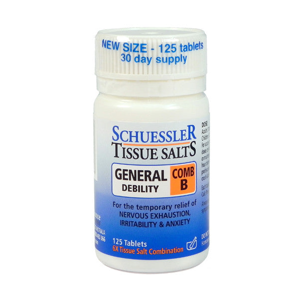 Martin and Pleasance Comb B Schuessler Tissue Salts 125 Tablets
