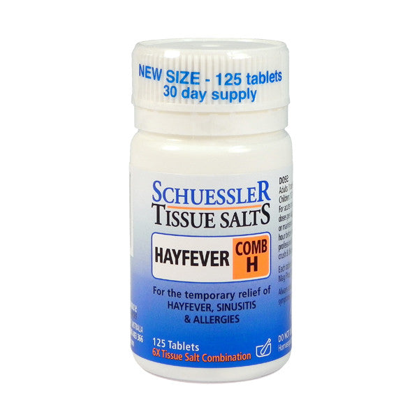 Martin and Pleasance Comb H Schuessler Tissue Salts 125 Tablets